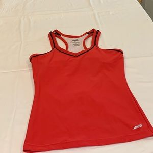 Red Avia workout top